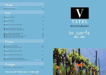 Télécharger notre carte des vins - Hotel Vatel