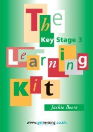 Key Stage 3 Learning Kit - Get Revising
