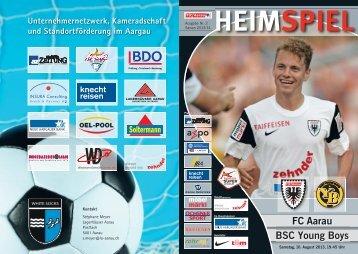 Saison 2013/14 - Ausgabe 2: FC Aarau - BSC Young Boys