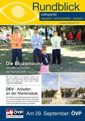Am 29. September: ÖVP - Neudorf bei Staatz