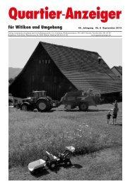 Ausgabe 6, September 2013 - Quartier-Anzeiger für Witikon und ...