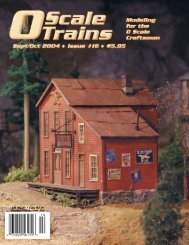US $5.95 • Can $7.95 - O scale trains