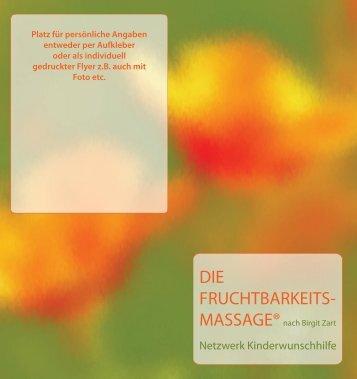 Die Fruchtbarkeitsmassage nach Birgit Zart