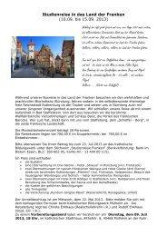 Ausschreibung Studienreise Franken 10.-15.09.2013x - Katholische ...