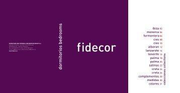 dormitorios bedrooms - FIDECOR