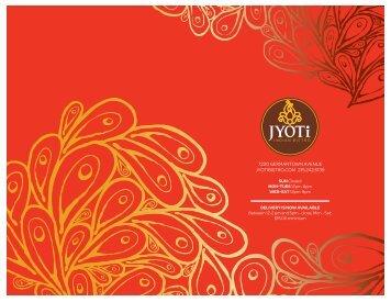 Printable Menu - Jyoti Indian Bistro