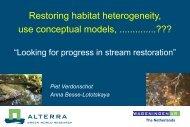 1. Piet Verdonschot - Centre for Wetland Ecology