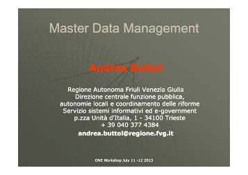 Master Data Management - ONE project