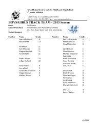 Track Roster