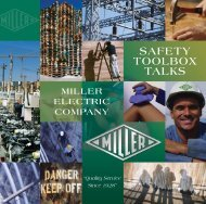 SAFETY TOOLBOX TALKS - Miller Electric Company Publications