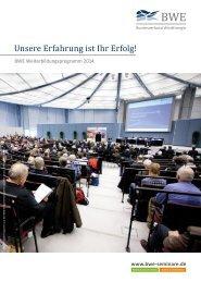 Veranstaltungsprogramm (pdf) - BWE Seminare