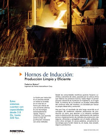 Hornos de Inducción: - Revista Metal Actual
