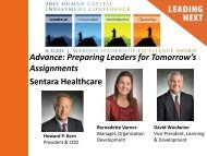 Advance: Preparing Leaders for Tomorrow's Assignments Sentara ...