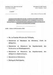 MINISTERE D'ETAT, MINISTERE DU PLAN REPUBLIQUE DE ...