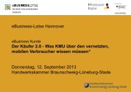 Clustertreffen Nord - eBusiness Lotse Hannover - Hochschule ...