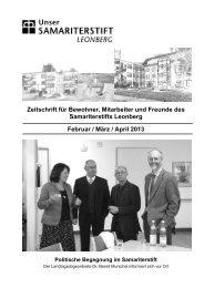 Zeitschrift für Bewohner, Mitarbeiter und Freunde ... - Samariterstiftung
