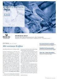 Mit vereinten Kräften - BirdLife Zürich