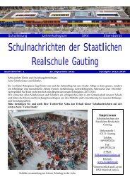 Schulnachrichten 1 (Sept. 2013) - Staatliche Realschule Gauting