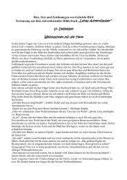 17. Dezember Weihnachten für die Tiere - Gabriela Hirtl