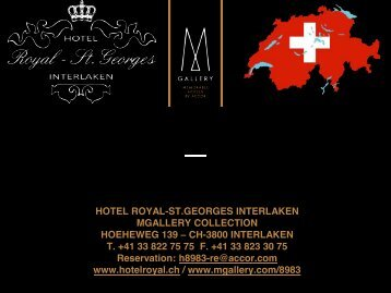 Presentation Hotel Royal-St.Georges Interlaken-MGalleryCollection
