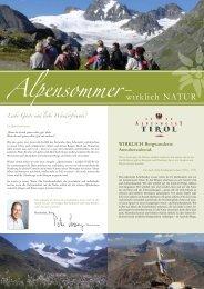 Online Sommerprospekt - Alpenhotel Tirol
