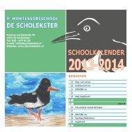 Kalender - 9e Montessorischool De Scholekster
