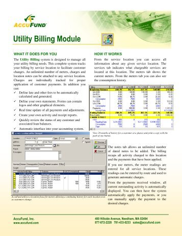 Utility Billing Module - AccuFund