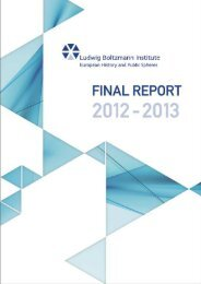 Final Report - Ludwig Boltzmann Institute for European History and ...