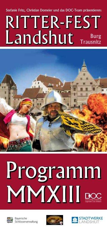 Das Programm - Ritter-Fest