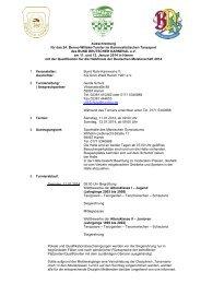 Ausschreibung 2013/14 - Bund Ruhr - Karneval