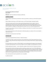 Corporate Letterhead Template - Acxiom