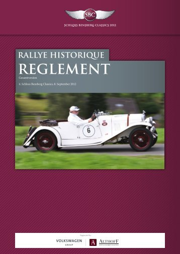 Reglement Rallye Historique - Schloss Bensberg Classics