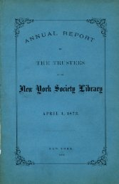 1873 - New York Society Library