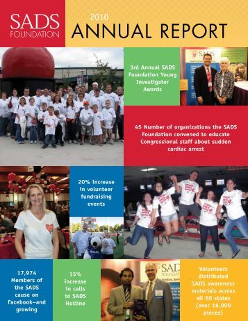 2010 Annual Report - SADS Foundation