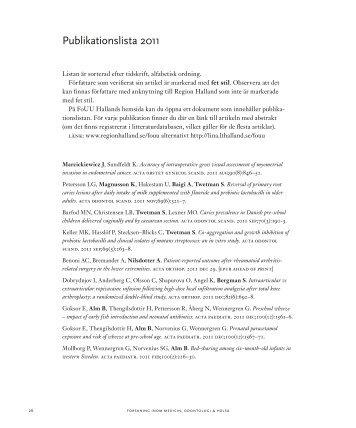 Publikationslista 2011 - Region Halland