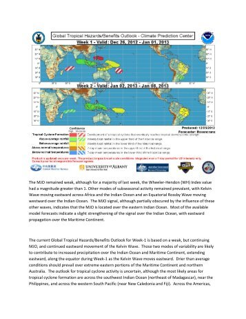 The MJO remained weak, although for a majority of last week, the ...