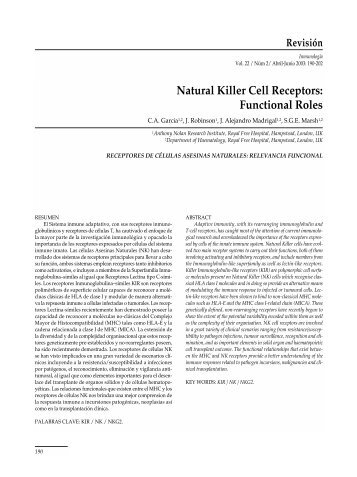 Natural Killer Cell Receptors: Functional Roles