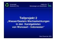 Teilprojekt 2 - Erschließung und Bewirtschaftung unterirdischer ...