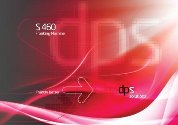 Download the S-460 PDF Brochure here - Digital Post Solutions