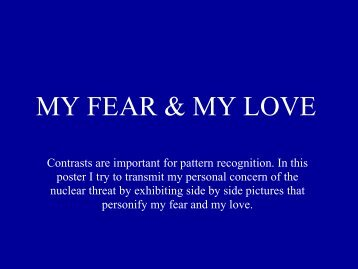 MY FEAR & MY LOVE