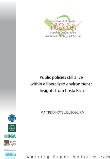 Public policies still alive within a liberalized ... - INRA Montpellier