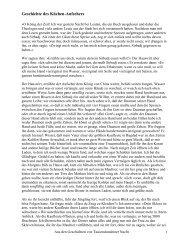 Geschichte des Küchen-Aufsehers - web-zwerge.de