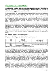 Leguminosen in der Fruchtfolge - Bio Forschung Austria