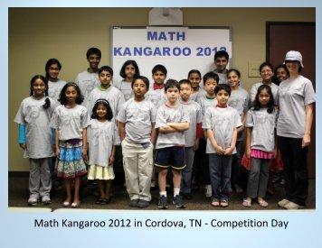 Math Kangaroo 2012 in Cordova, TN - Competition Day