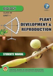 PLANT DEVELOPMENT & REPRODUCTION - CBSE International