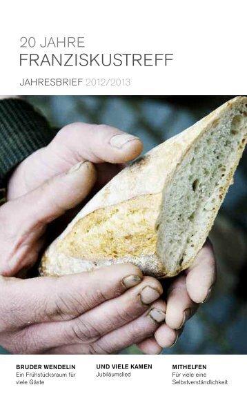 Jahresbericht 2012/2013 - Franziskustreff