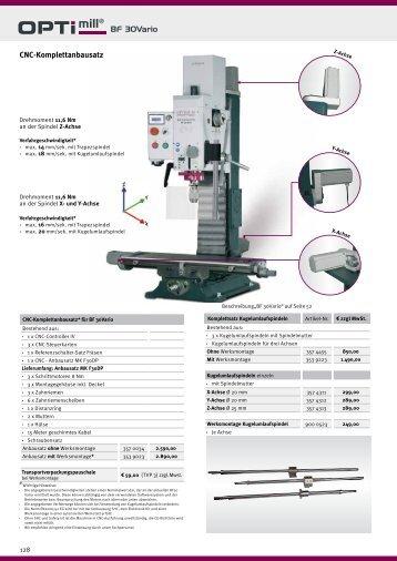 siehe CNC - Optimum Maschinen
