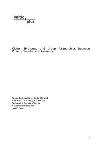 Citizen Exchange and Urban Partnerships between Poland ...
