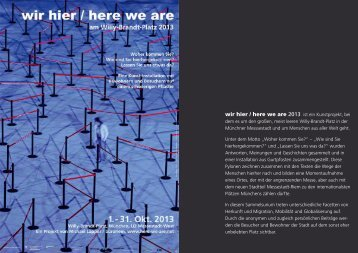 pdf 0,9 MB - wir hier / here we are