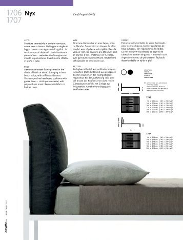 Emaf Progetti (2010) lits betten letti beds camas - Zanotta SpA
